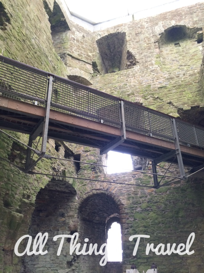 inside the keep at Trim Castle