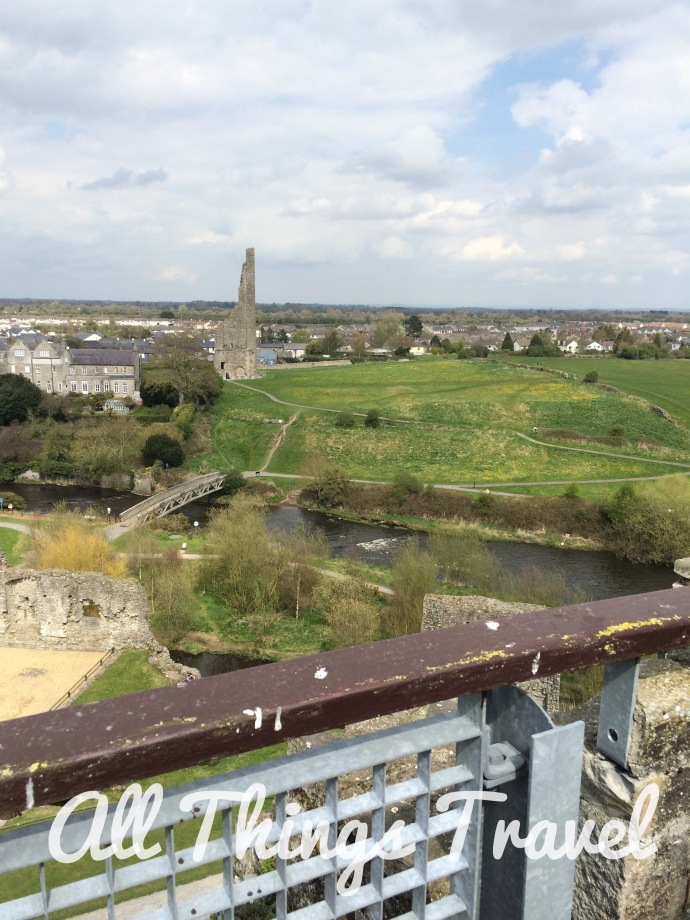 View from the top of the keep at Trim Castle