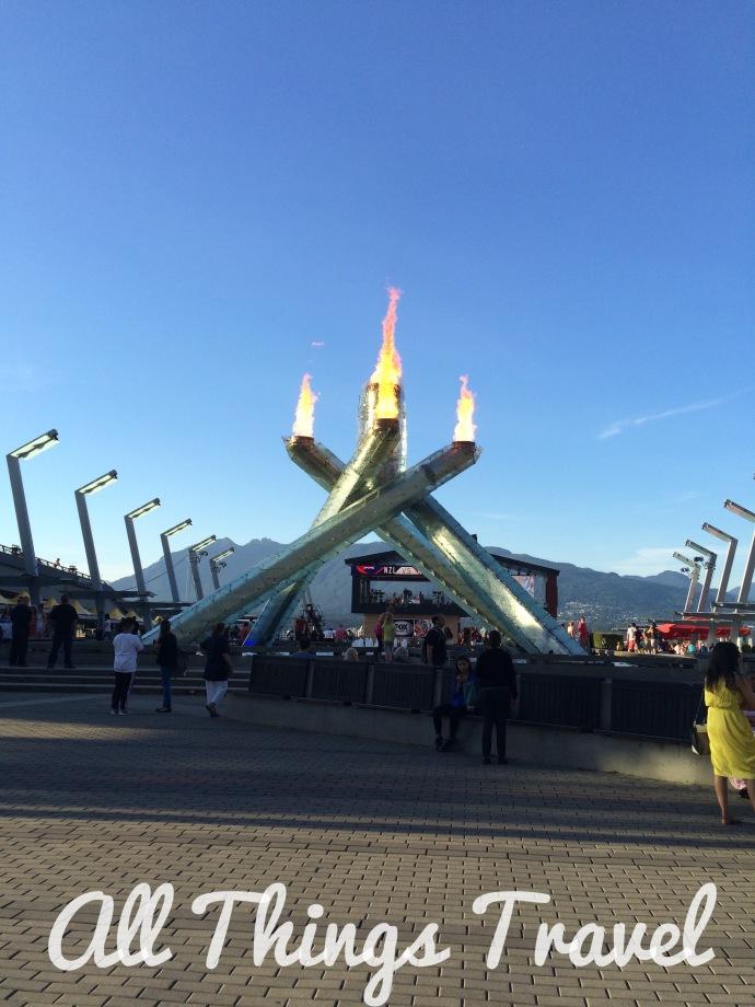 Olympic Cauldron at Jack Poole Plaza