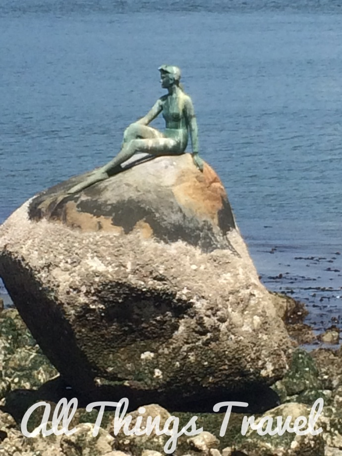Statue of Girl in a Wetsuit in Stanley Park