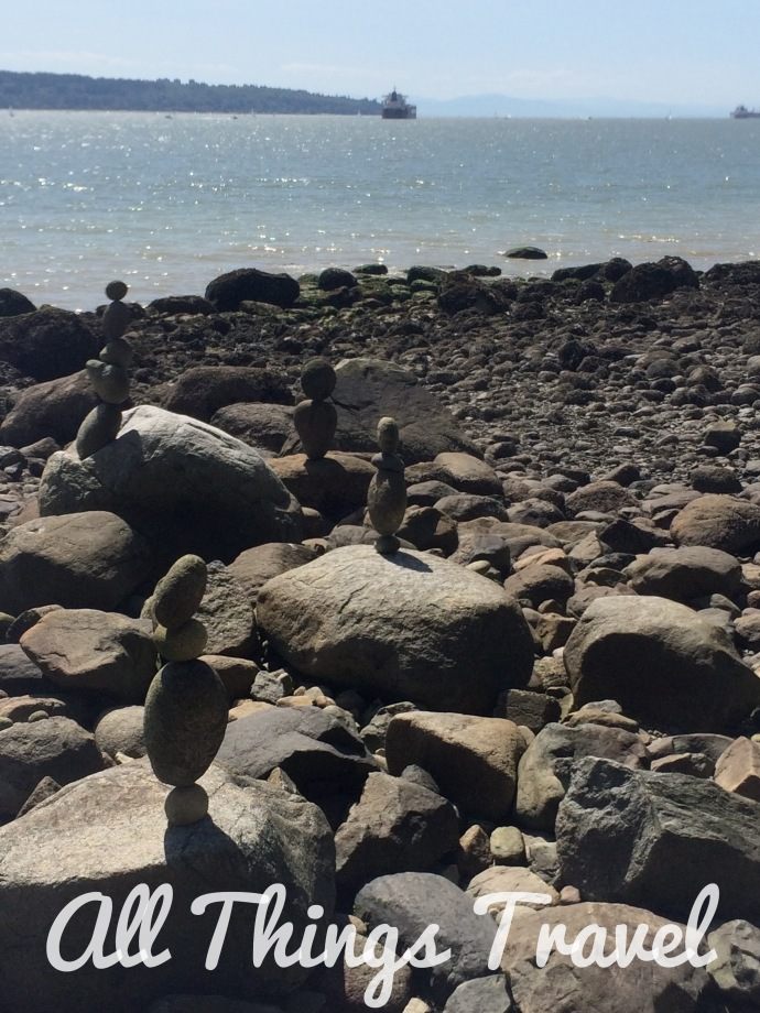 Cairns along the Seawall in Stanley Park