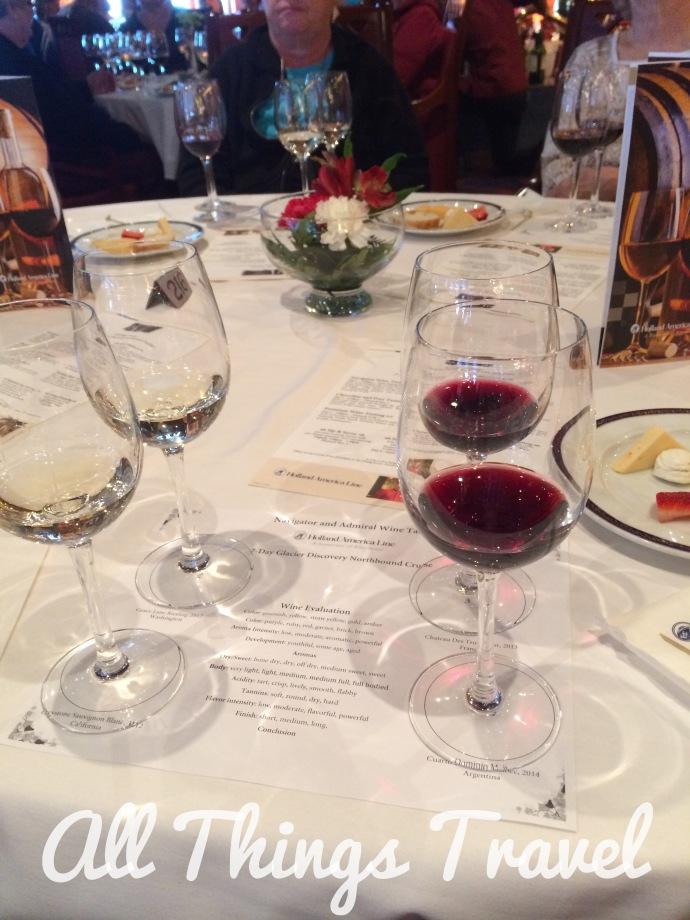 HAL Oosterdam wine tasting