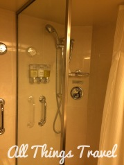Separate shower in our bathroom