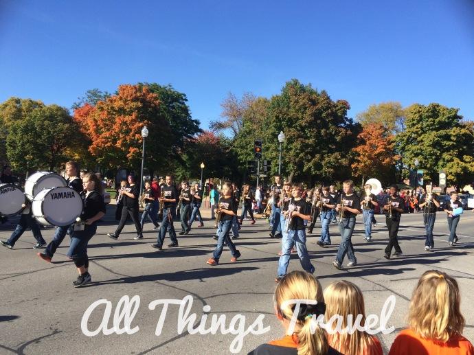 Homecoming parade in Charles City