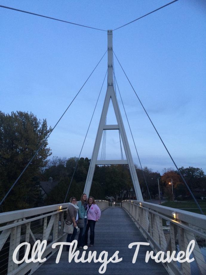Pedestrian Suspension Bridge across the Cedar River