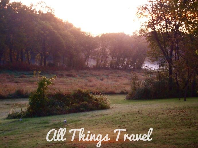 Morning breaks on Cedar River at Red Cedar Lodge