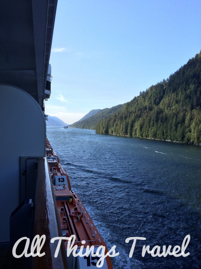 View from our ship along the inside passage