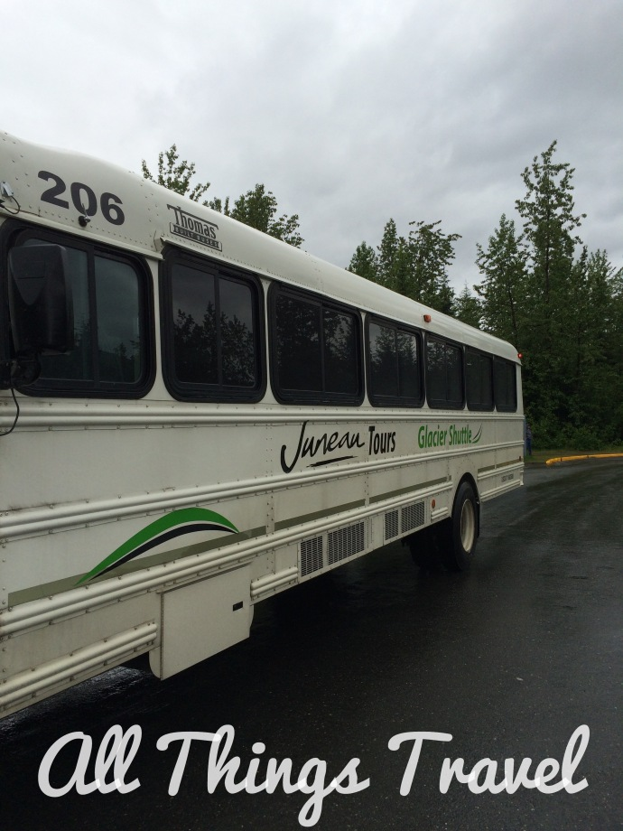 Bus to Mendenhall Glacier on Juneau Tours