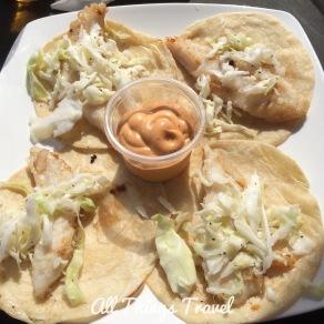 Fish tacos and pork tacos